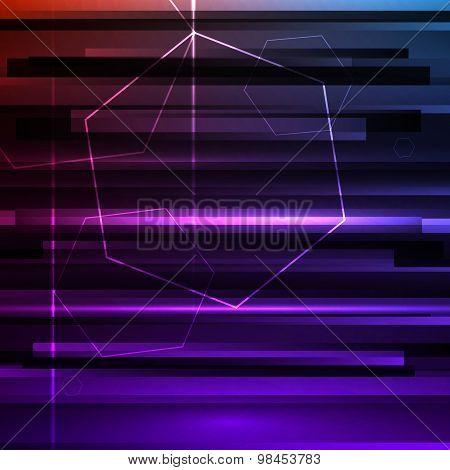 Futuristic Background Dark Purple Grunge Hexagons