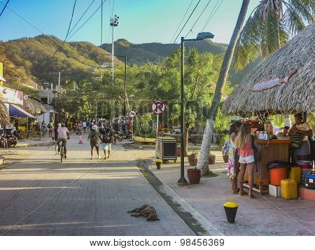 Taganga Boardwalk In Colombia