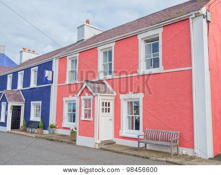 Colorful houses in Aberaeron, Wales