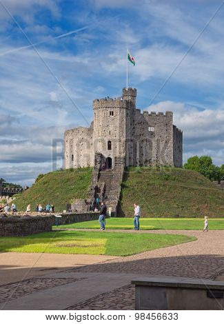 The keep of Cardiff Castle, Wales