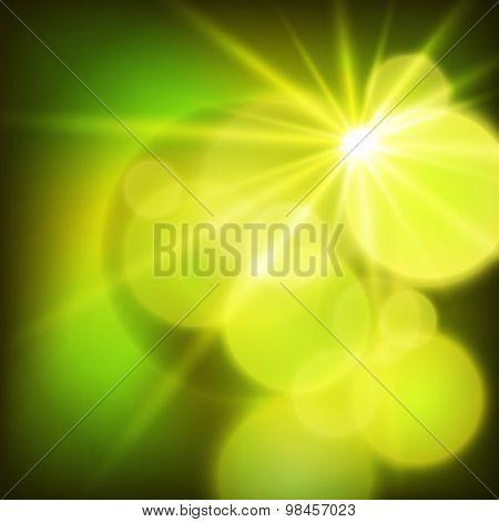 Summer Background Light Bright Sun Rays Effect