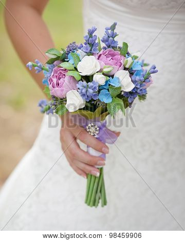 bridal bouquet made of polymer clay