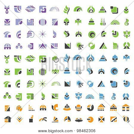 Set of Abstract Vector  Design Elements and Logos.