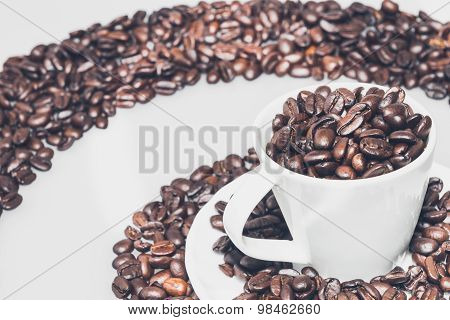 Coffee Cup In A Coffee Whirl