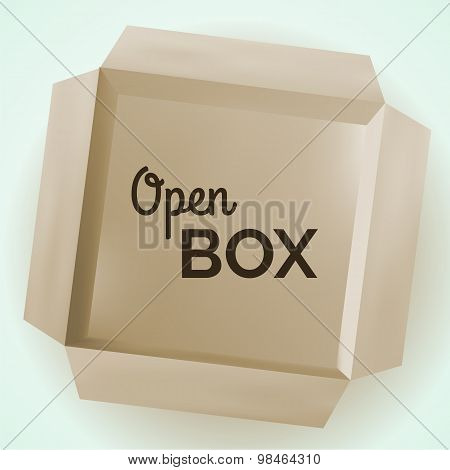 Open box, vector illustration