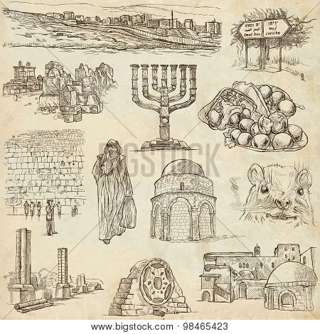 Israel - An Hand Drawn Collection. Full Sized Freehands.