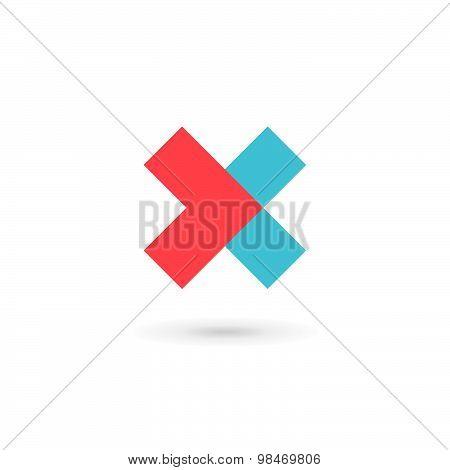 Letter X Cross Logo Icon Design Template Elements