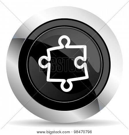 puzzle icon, black chrome button