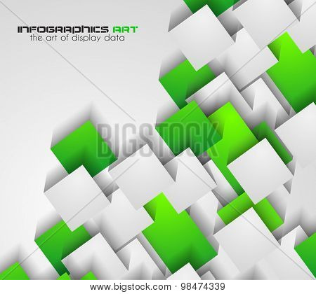 Abtract cubes background for brochures and flyers design. The template is ideal also for business cards, advertisement, posters and presentations.