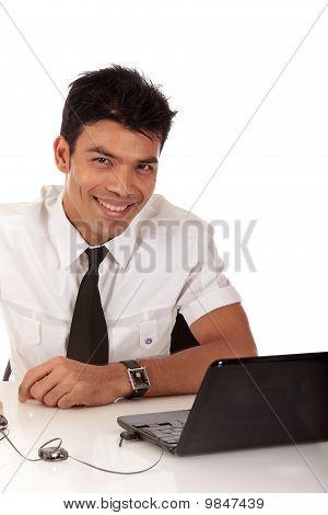 Young Nepalase Businessman Smiling