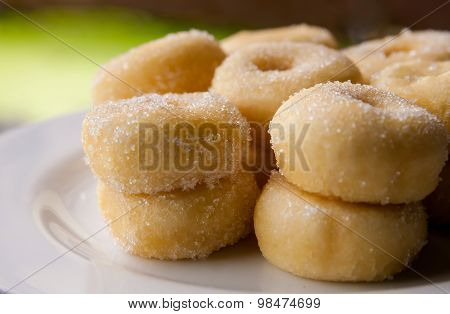 Small Fried Cake Of Sweetened Dough.