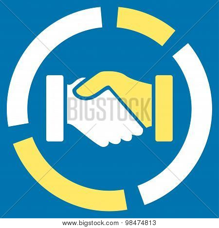 Acquisition diagram icon from Business Bicolor Set