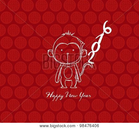 monkey design for Chinese New Year celebration