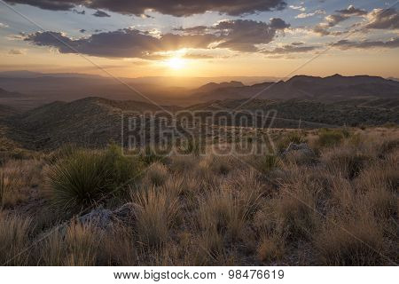 Sunset at Sotol Vista Overlook