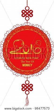Oriental Happy Chinese New Year Element. Year of monkey