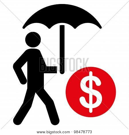Financial insurance icon from Business Bicolor Set