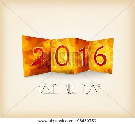 Happy New Year 2016 Abstract geometrical background