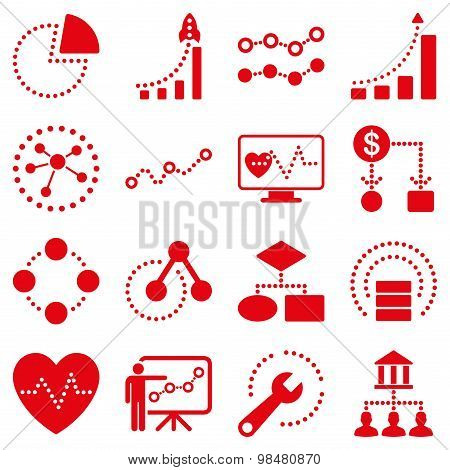 Dotted vector infographic business icons