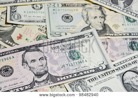 American Dollar Bills, Use For Background