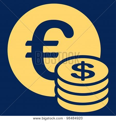Dollar coin stack icon from BiColor Euro Banking Set