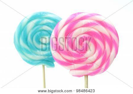 Closeup Of Lollipops