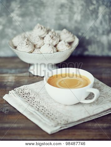 A cup of caffe crema