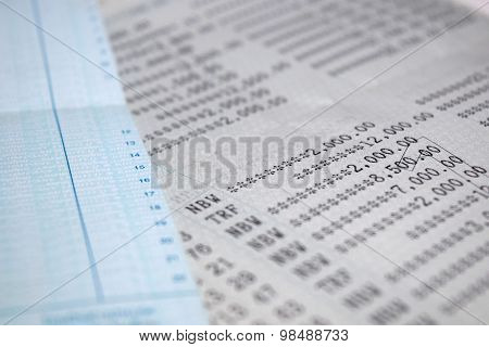Saving Account Passbook bank account abstract background