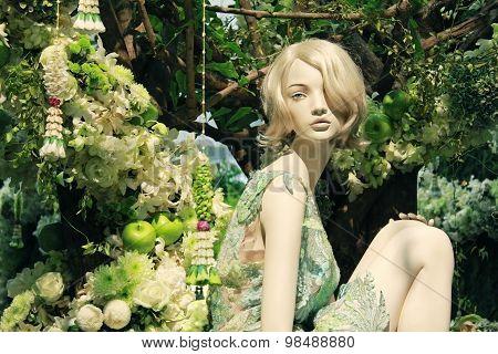 Beautiful Marionette In The Garden