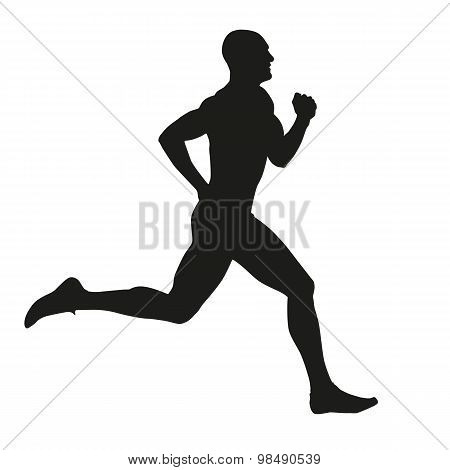 Runner Isolated Silhouette