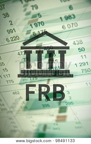 Building icon with inscription Frb