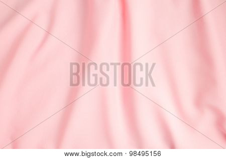 Crumpled Pink Fabric Texture Background