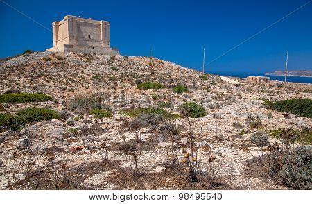 St Mary Tower At Comino, Malta