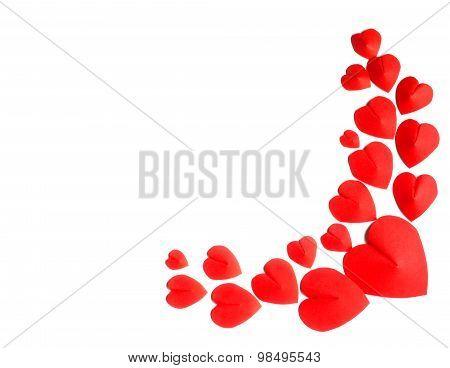 Hearts Shape On White Background