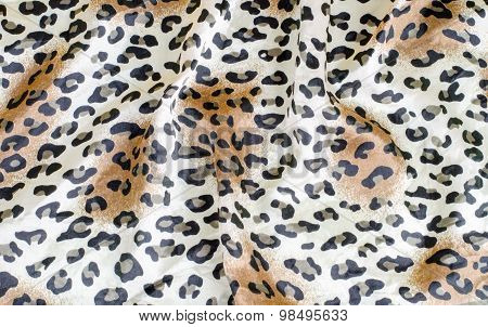 Crumpled Leopard Texture Background