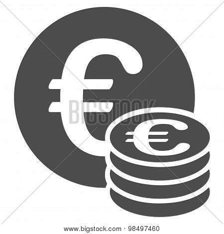 Euro coin stack icon from BiColor Euro Banking Set