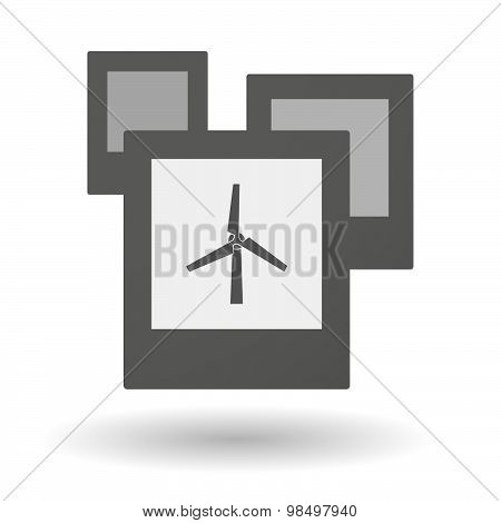 Isolated Group Of Photos With A Wind Generator