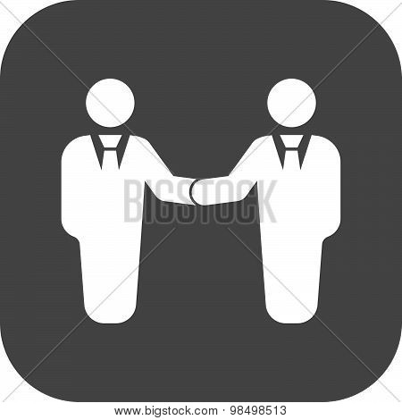 The handshake icon. Partnership and negotiation, cooperation symbol. Flat