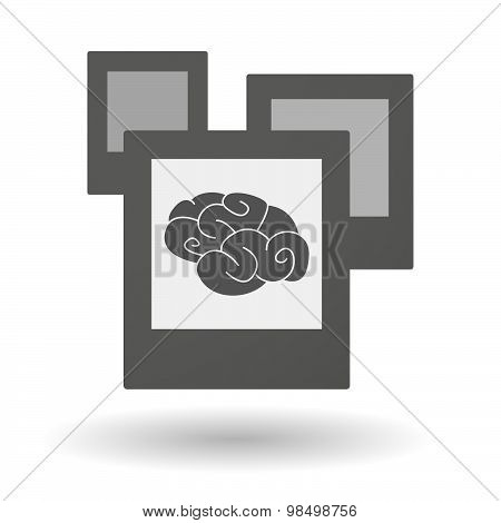Isolated Group Of Photos With A Brain