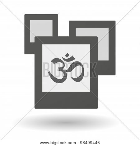 Isolated Group Of Photos With An Om Sign