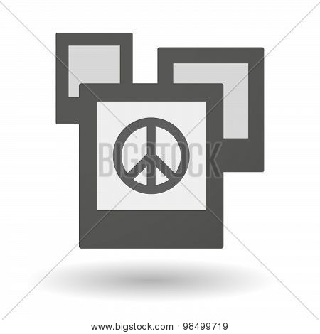 Isolated Group Of Photos With A Peace Sign