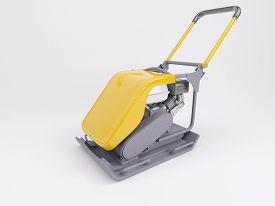 stock photo of vibration plate  - 3d render of a vibratory plate compactor - JPG