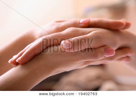 A close up on a hand massage