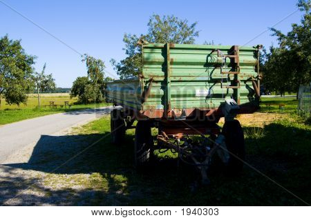 Trailor On A Farm