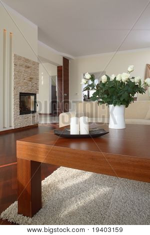 Table in modern living room