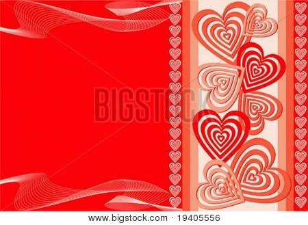 Heart background, vector illustration