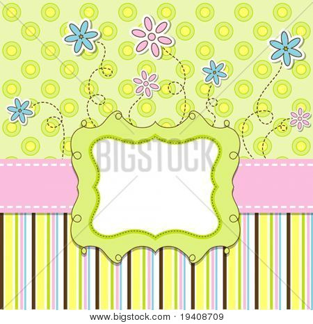 Template cards for the boy and girl, vector illustration, eps10