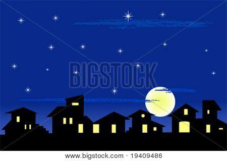 Kleines Dorf-Silhouette - vektor-Illustration, Sammelalbum nützlich