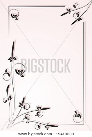 Ornamental frame for letter, deco style