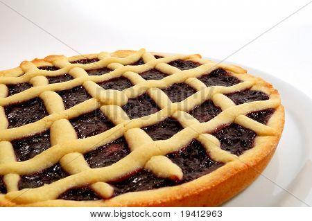 Raspberry jam tart, italian homemade crostata