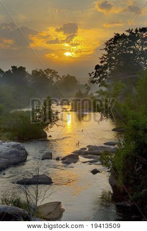 Misty Sunrise : Sabie river : South Africa